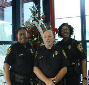 Officers Stacina Jones, Pinkey Joachim, and Niel Johnson
