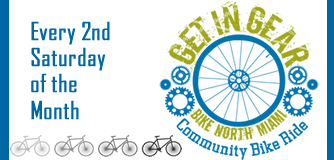 Get in Gear Community Bike Ride every second Saturday of the month.