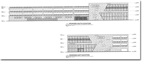 Proposed South and East Elevation Building Blueprint