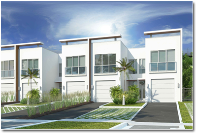 Rendering of the Parcview Villas