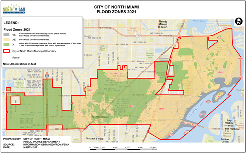 City of North Miami Flood Zone Map Opens in new window