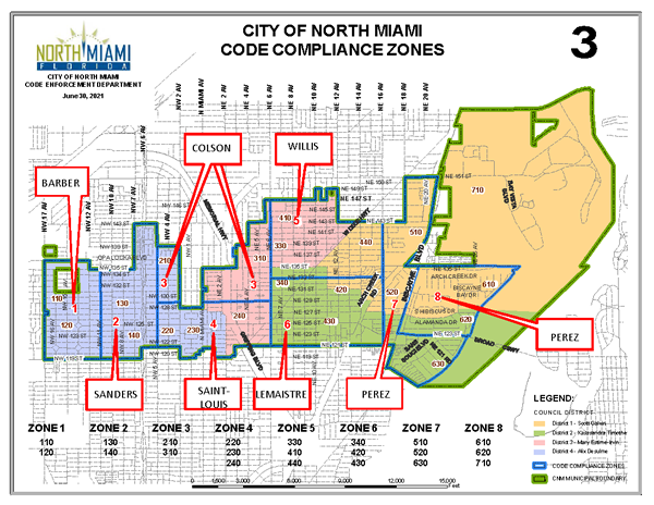 City of North Miami Code Compliance Zones Opens in new window
